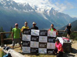 Slika sa prvog dana treninga. Trećeg dana smo otišli na treking u okolini Šamonija sa pogledom na Mont Blanc. Nakon 4 sata šetnje vratili smo se u Šamoni. Ostatak dana smo iskoristili za odmaranje i poslednje pripreme za polazak na uspon.