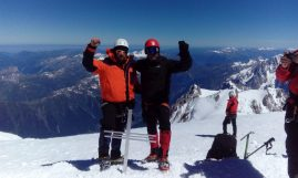 David Kovačević i Slaviša Matović na vrhu Mont Blanc