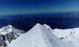 Ženevski nož - završni greben do vrha