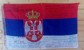 Zastava sa našim potpisima koja se nalazii u Tetrusu.